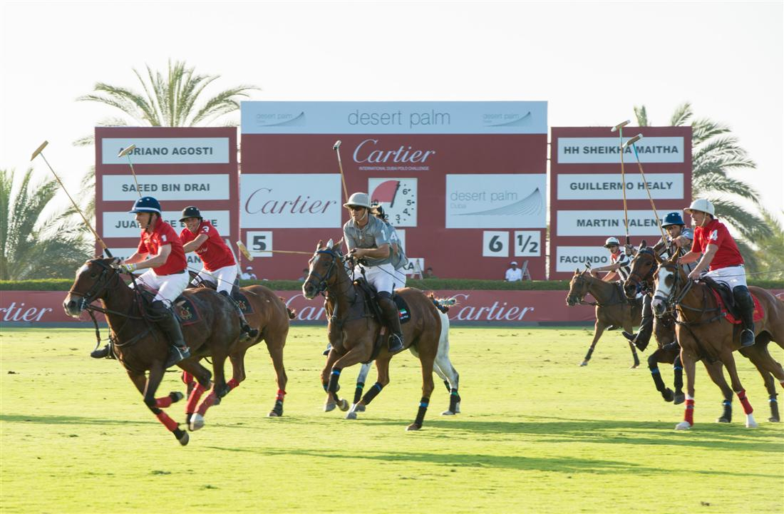 HH Sheikha Maitha leads Desert Palm team to victory in Cartier International Dubai Polo Challenge 2013
