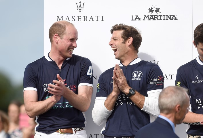 PRINCE WILLIAM PLAYS MASERATI CHARITY POLO TROPHY UK LEG