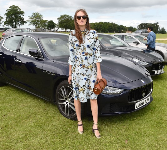 Maserati Royal Charity Polo Trophy 2017 at  Beaufort Polo Club Downfarm House Westonbirt Tetbury Gloucestershire UK. Lady Violet Manners