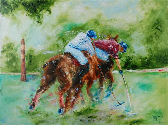 1500  sold. Polo VI. 60х80 cm. oil on canvas